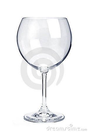 Free Empty Red Wine Glass Royalty Free Stock Photos - 12733048