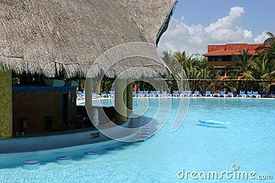 Empty resort pool