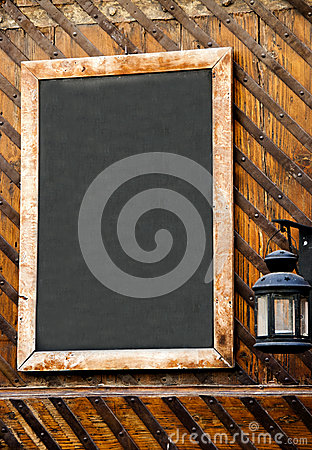 Empty restaurant menu