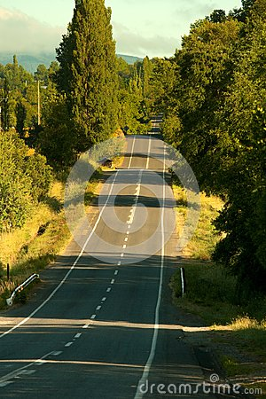 Free Empty Road In Southern Chile Stock Photos - 107509623