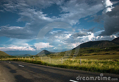 Empty Road  in mountains, Connemara, Ireland