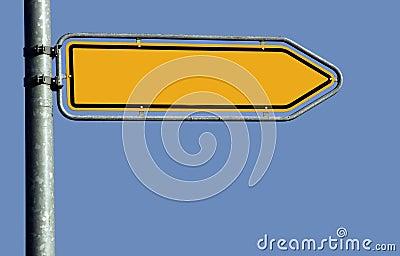 Empty road-sign arrow