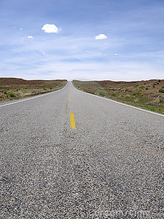 Empty road to nowhere