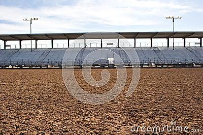 Empty rodeo arena