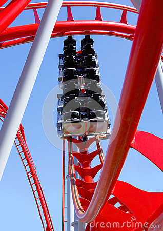 Empty roller coaster