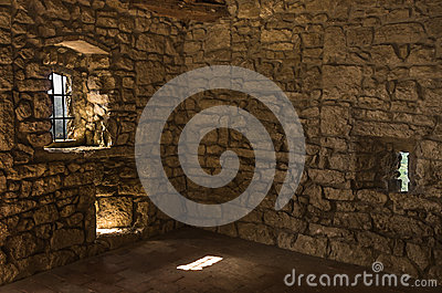 Empty Room in abandoned Castle