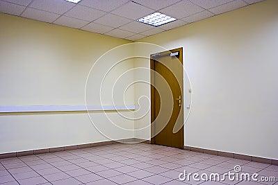 Empty room door