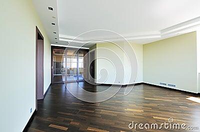 Empty room interior