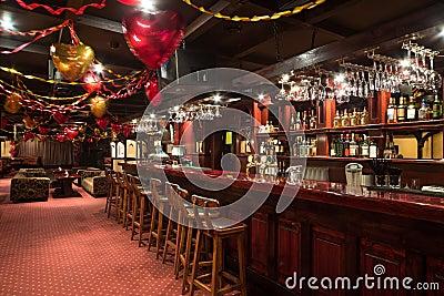 The empty room of Karaoke - Club PHARAOH Editorial Photography