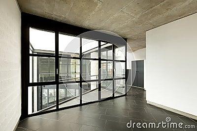 Empty room, large window