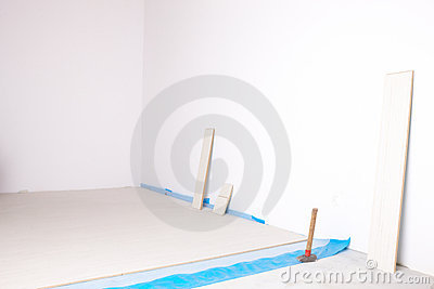 Empty room during renovation