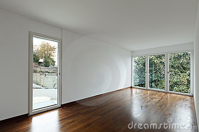 Empty room with windows