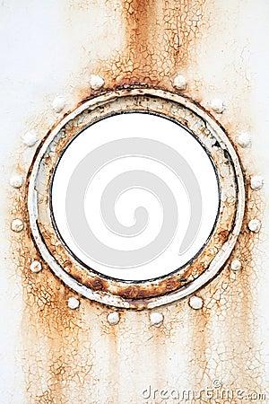 Free Empty Round Rusted Porthole On Ship Wall Stock Photos - 42327063