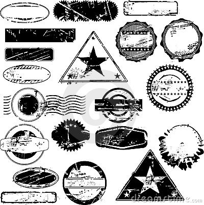 Free Empty Rubber Stamps Royalty Free Stock Photo - 10610015