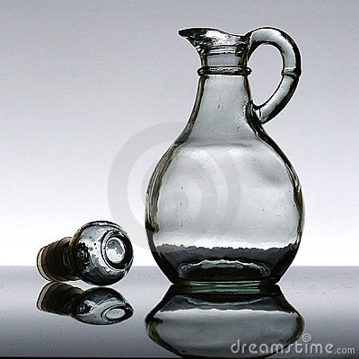 Empty Salad oil bottle