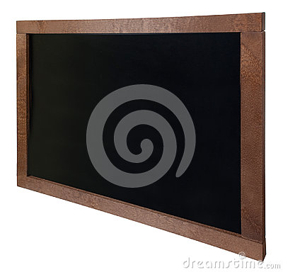 Empty school blackboard isolated on white