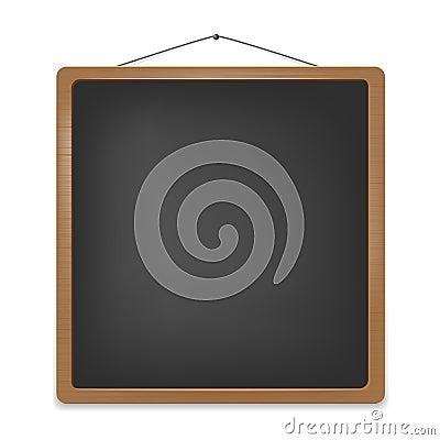 Empty school blackboard for your message