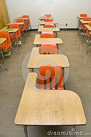 Free Empty School Desks Stock Image - 13871671