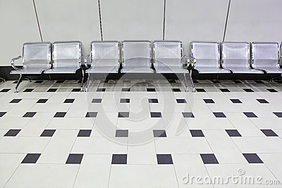 Empty seats at a building