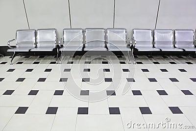 Empty seats at a building