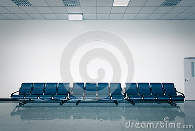 Empty seats at a business building