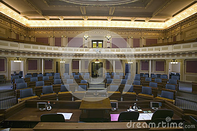 Empty seats of House of Representatives Chamber Editorial Photo