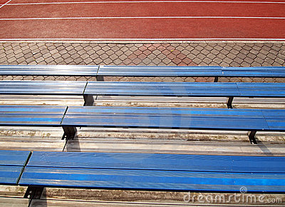 Empty  seats in school stadium
