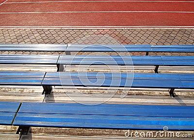 Empty  seats in school stadium