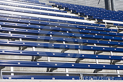 Empty seats on the stadium