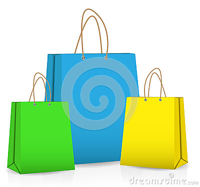 Free Empty Shopping Bag For Advertising And Branding Royalty Free Stock Photography - 30544537