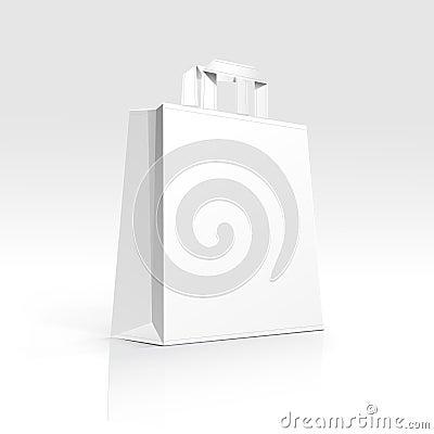 Free Empty Shopping Bag On White Background Stock Photography - 29849202