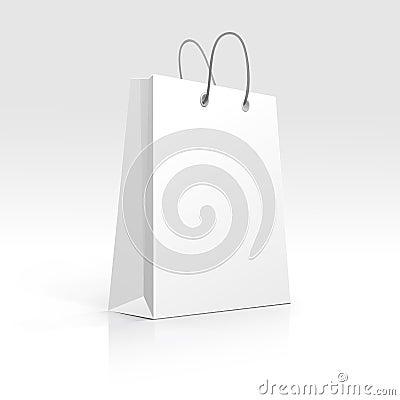 Free Empty Shopping Bag On White Background Stock Image - 29849211
