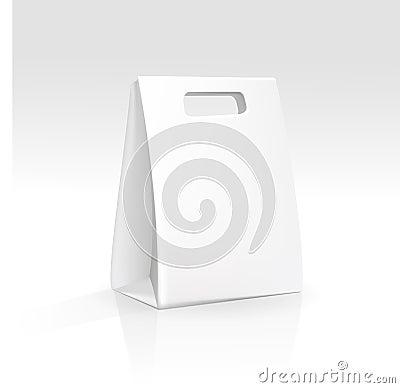 Free Empty Shopping Bag On White Background Stock Photos - 29849223