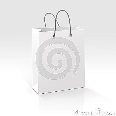 Free Empty Shopping Bag On White Background Stock Photos - 29849233