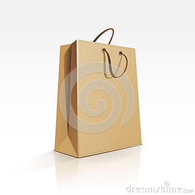 Free Empty Shopping Bag On White Background Stock Photos - 29849273