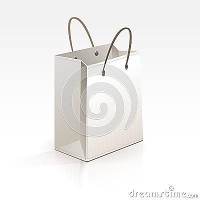 Free Empty Shopping Bag On White Background Stock Image - 29849341