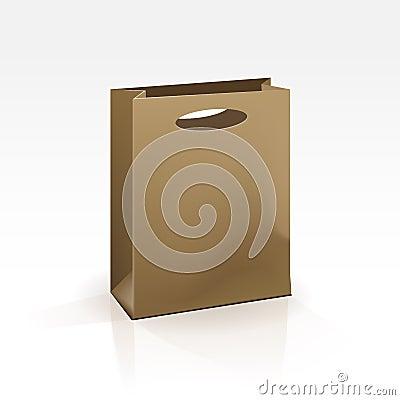 Free Empty Shopping Bag On White Background Stock Images - 29849364