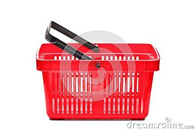 An empty shopping basket