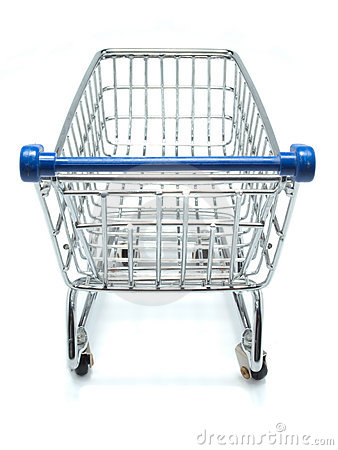 Empty shopping cart from shopper's view