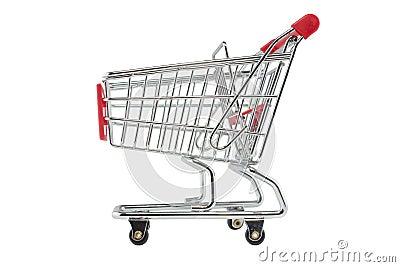 Empty shopping trolley