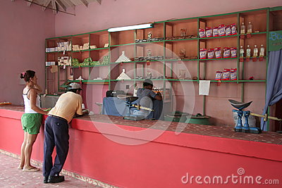 Empty shops Editorial Stock Image