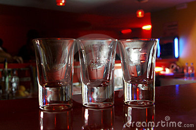 Empty shots in bar