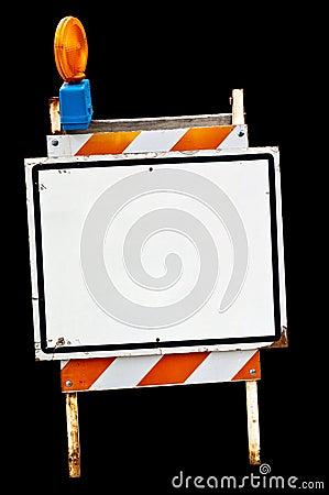 Empty sidewalk sign