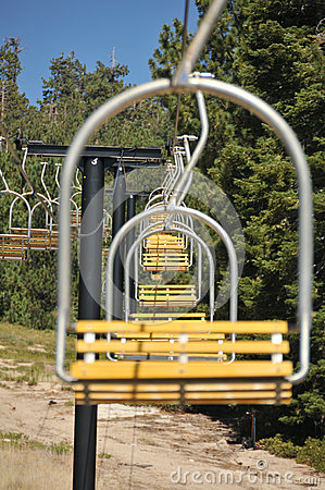 empty ski lift chairs in a row royalty free stock photos image