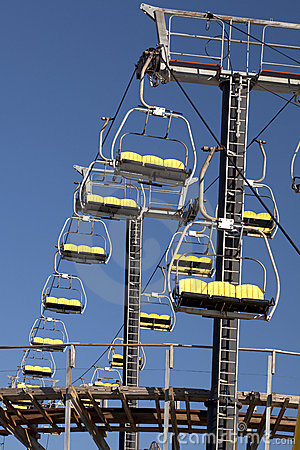 Empty Sky Lift Ride