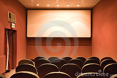Empty small cinema auditorium
