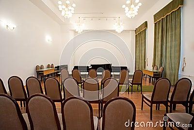 Empty small concert room