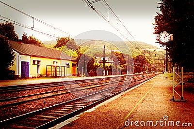 Empty small railway station