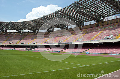 Empty Soccer stadium stand