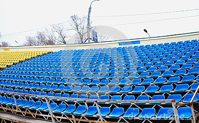 Empty soccer stands